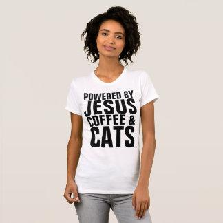 Camiseta Gato-camisetas CRISTIANO, CAFÉ JESÚS de los GATOS