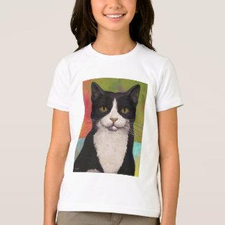Camiseta Gato colorido del smoking