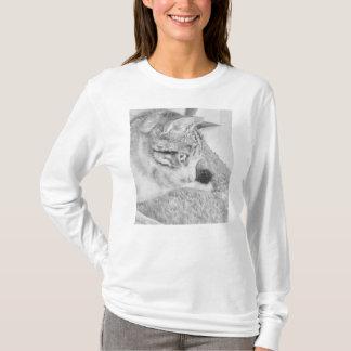 Camiseta Gato de la escala gris