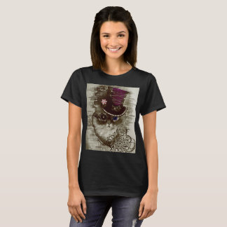 Camiseta Gato de Steampunk