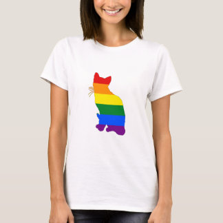Camiseta Gato del arco iris