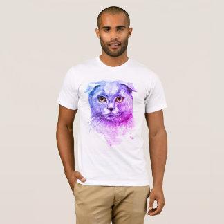 Camiseta Gato del doblez del escocés