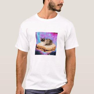 Camiseta Gato del espacio del bocadillo de viernes