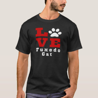 Camiseta Gato Designes del smoking del amor