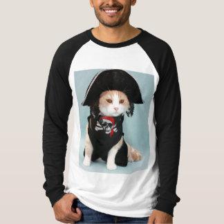 Camiseta Gato divertido del pirata