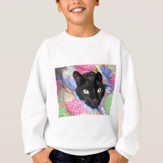 Camiseta: Gato divertido envuelto en mantas Sudadera