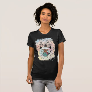 Camiseta Gato emocional. Juguetón