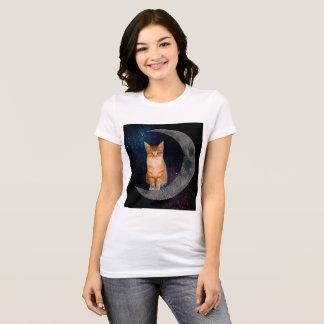 Camiseta Gato en la luna
