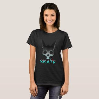 Camiseta Gato fresco de la pintada urbana del patín