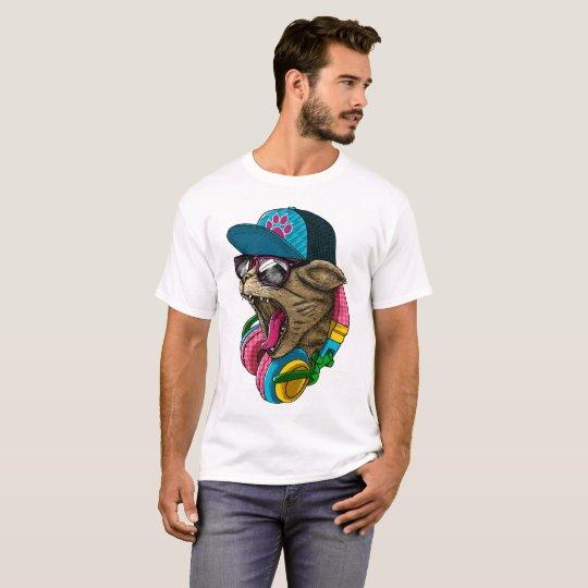Camiseta Gato impresionante enrrollado, fresco y salvaje