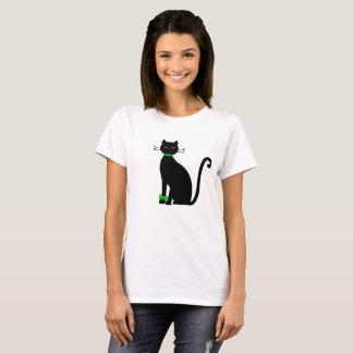 Camiseta Gato negro con la cinta
