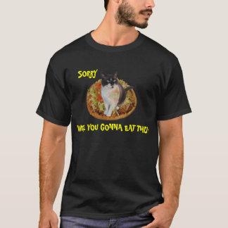 Camiseta Gato que se sienta en la pizza del Taco