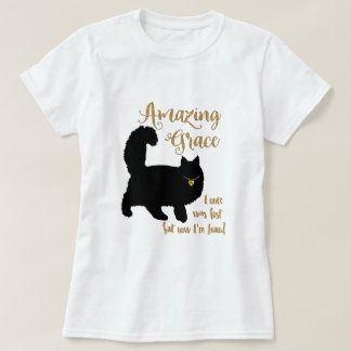 Camiseta Gato rescatado tolerancia asombrosa de pelo largo