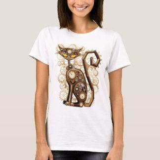 Camiseta Gato surrealista elegante de Steampunk
