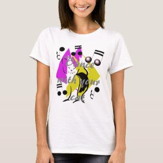 Camiseta Gatos artsy de la diversión de la música de jazz