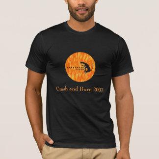 Camiseta Gatos balísticos, desplome y quemadura 2007
