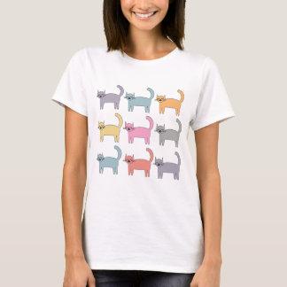 Camiseta Gatos coloridos
