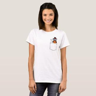 Camiseta Gatos divertidos de Halloween en el bolsillo