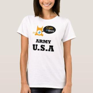 Camiseta Gatos para permanecer el sector de los amantes del