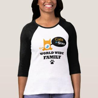 Camiseta Gatos para permanecer el uniforme mundial de la