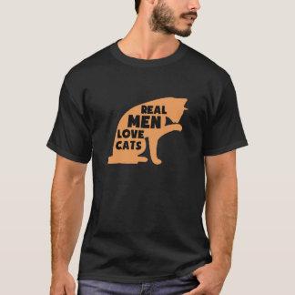 Camiseta Gatos reales del amor de los hombres