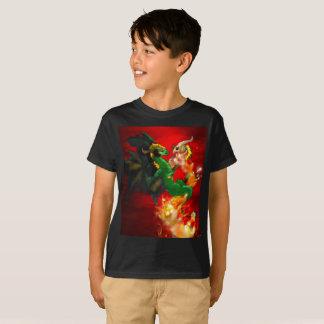 Camiseta gemela de los niños de los dragones