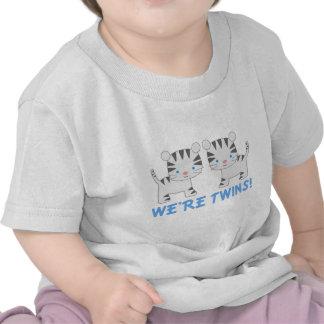 Camiseta gemela del bebé del tigre de la selva del