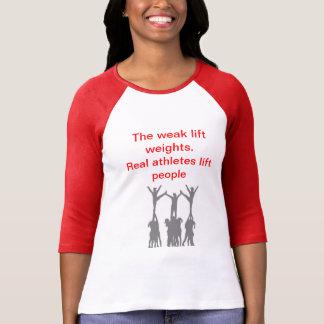 Camiseta Gente real de la elevación de los atletas