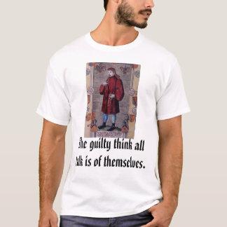 Camiseta Geoffrey Chaucer, el culpable piensa que es toda