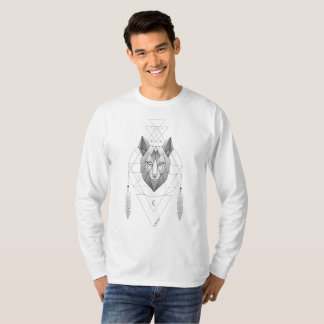Camiseta Geometric Wolf Dream Catcher