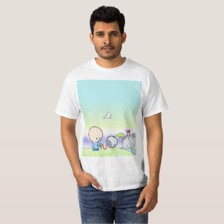 Camiseta George que camina su perro del droid