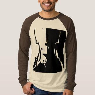 Camiseta gigante del raglán del LS del violín