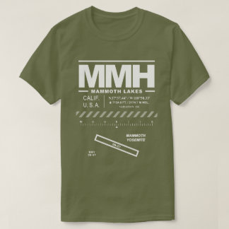 Camiseta gigantesca del aeropuerto MMH de Yosemite