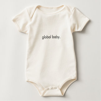 Camiseta global orgánica II del bebé