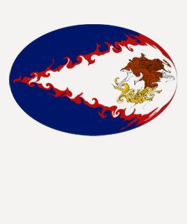 Camiseta Gnarly de la bandera de American Samoa