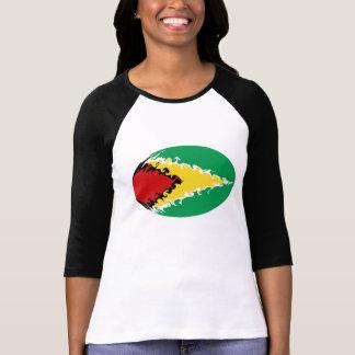 Camiseta Gnarly de la bandera de Guyana