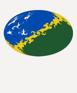 Camiseta Gnarly de la bandera de Solomon Island