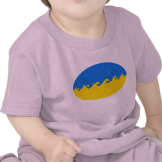 Camiseta Gnarly de la bandera de Ucrania