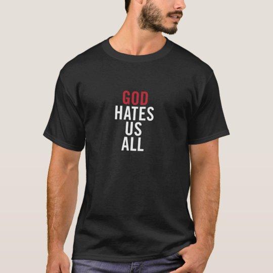 "Camiseta ""God Hates Us All"". Californication Hank Moody"