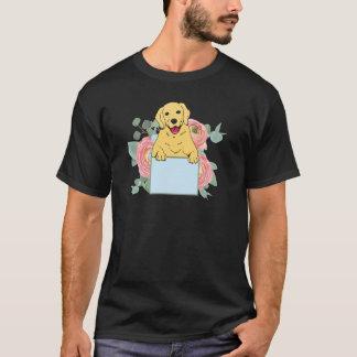 Camiseta Golden retriever que lleva a cabo la muestra