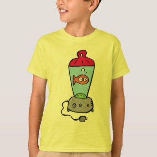 Camiseta Goldfish de las cosquillas en un mezclador