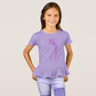 Camiseta Golfista del chica que balancea un hierro