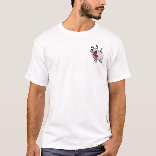 Camiseta gorda del emblema del perro
