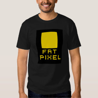 Camiseta gorda del pixel