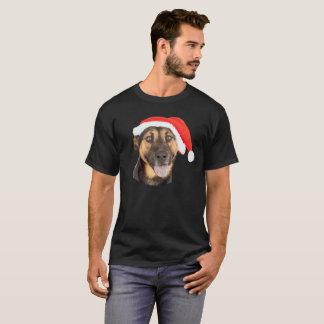 Camiseta Gorra de Santa del navidad del perro de pastor