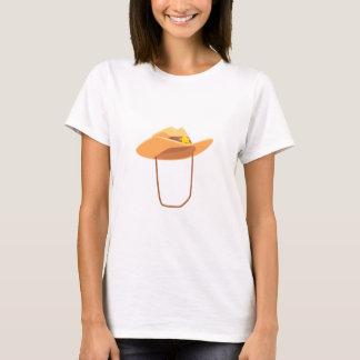 Camiseta Gorra de vaquero con la atadura del dibujo de la