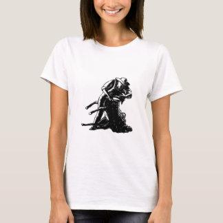 Camiseta Grabar en madera de corte de las ovejas del