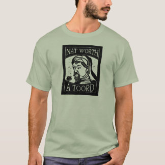 "Camiseta Grabar en madera de Geoffrey Chaucer ""nacional"