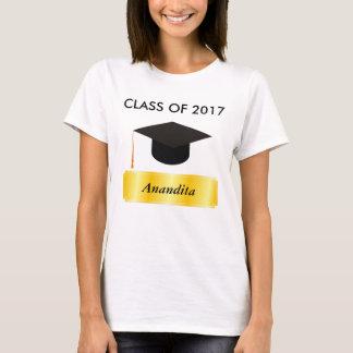 Camiseta Graduación de la etiqueta del oro