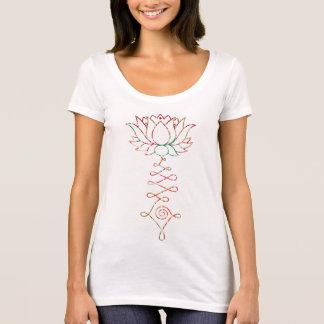 Camiseta gráfica bohemia del escote redondo de la
